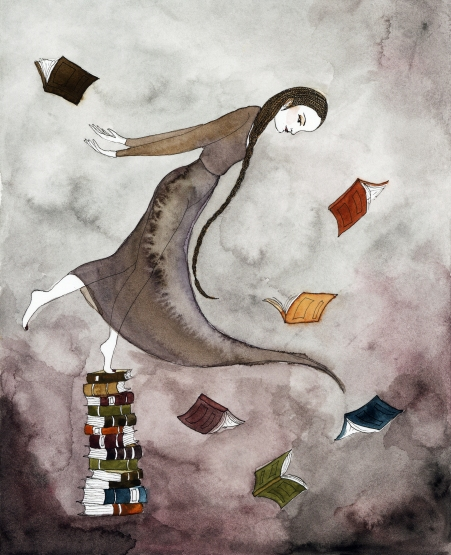 Bibliophilia, 2017, watercolor