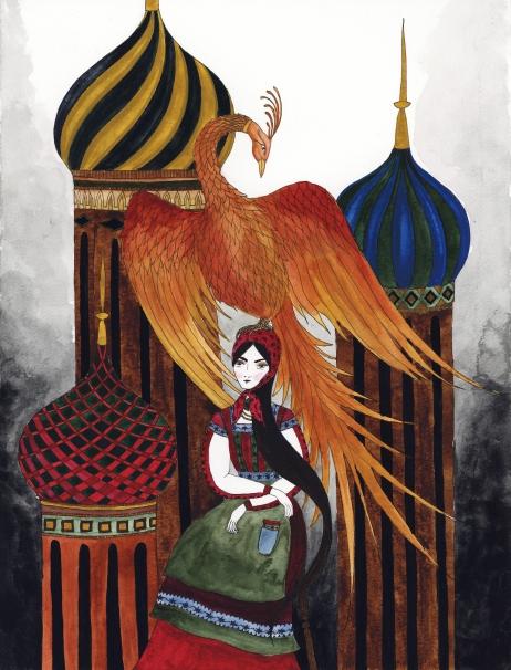 The Firebird, 2017, watercolor
