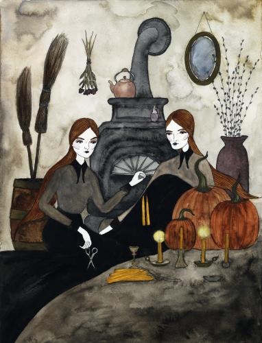 Autumnal Preparations, 2017, watercolor