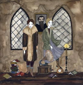 The Undergraduates, 2018, watercolor